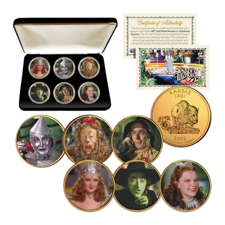 24K Gold-Plated Wizard Of Oz Coins