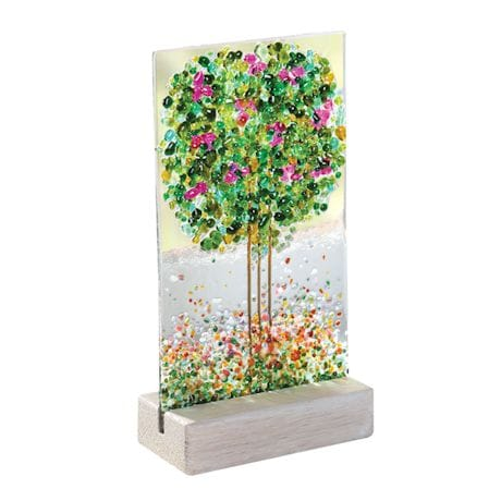 Fused Glass Suncatcher Trees