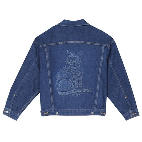 Embossed Denim Cat Jacket