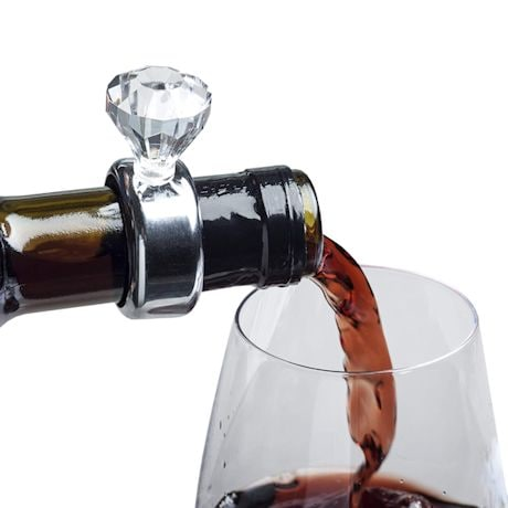Diamond Ring Wine Drip Collar