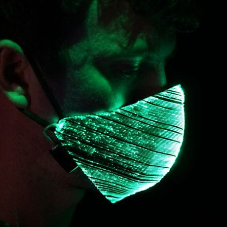 Light-Up Fiber Optic Face Mask