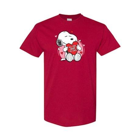 Snoopy Heart Valentine's Day Peanuts T-Shirts