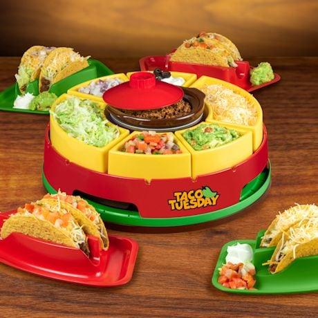 Make Every Day Taco Tuesday - Lazy Susan and Taco Holders