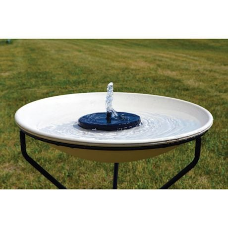 Floating Solar Birdbath Bubbler