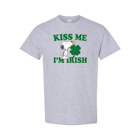 Peanuts Kiss Me, I'm Irish T-Shirt