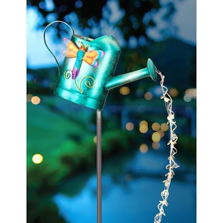 Watering Can Solar Stake