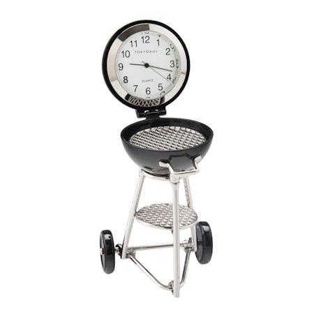 Mini BBQ Grill Desk Clock