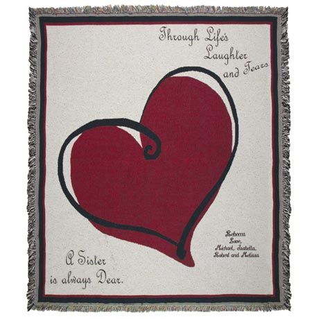 Personalized Life's Laughter Throw - Sister