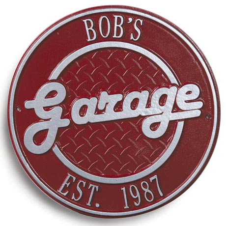 Bob's Garage Plaque