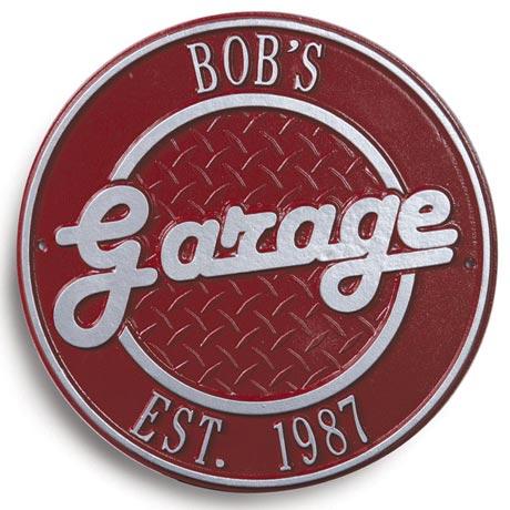 Bob's Garage Plaque