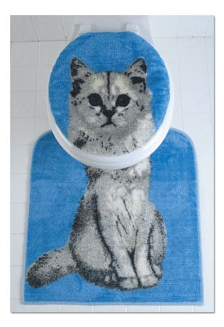 Cat Toilet Seat Set