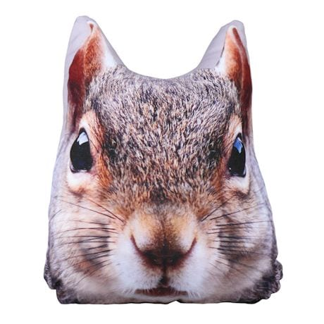 Squirrel Head Pillow