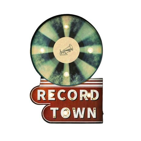 Record Town Light-Up Sign