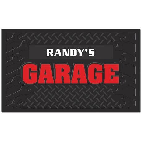 Personalized Garage Mat