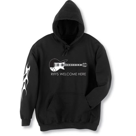 Riffs Welcome Guitar Hoodie