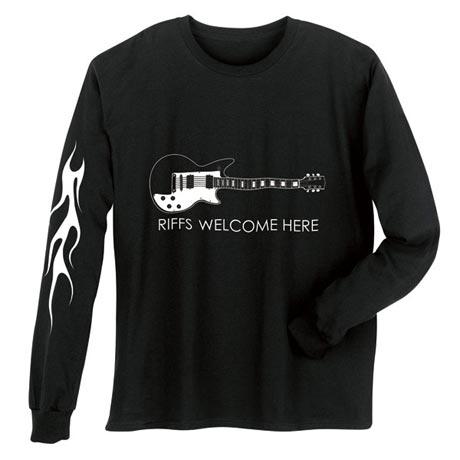 Riffs Welcome Guitar Long Sleeve T-Shirt