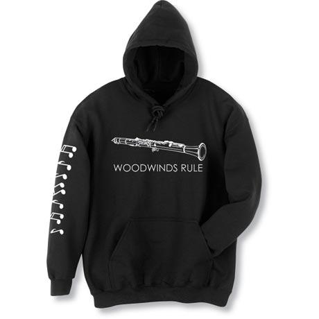 Woodwinds Rule Clarinet Hoodie Sweatshirt