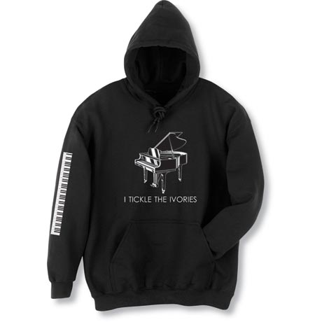 Piano Hoodie I Tickle the Ivories
