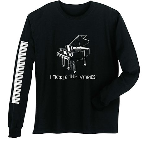Tickle Ivories Piano Long Sleeve T-Shirt