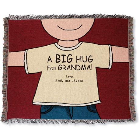 Personalized Big Hug Throw - Mom