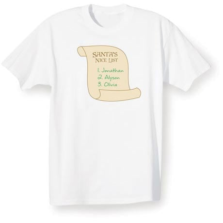 Personalized Santa's Nice List Shirt