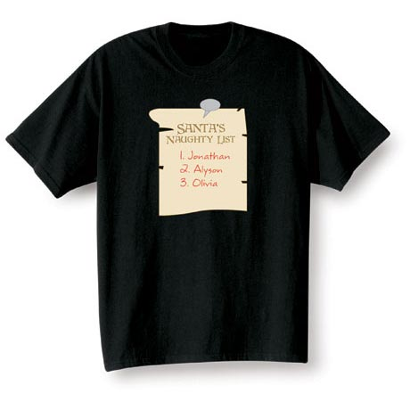 Personalized Santa's Naughty List Shirt
