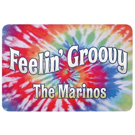 Personalized Feelin' Groovy Doormat