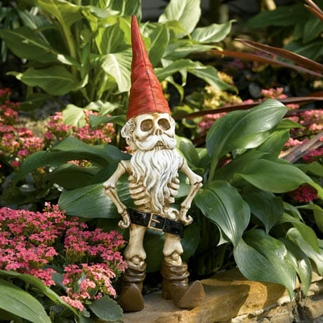 SKEL-A-GNOME MAN GARDEN SCULPTURE