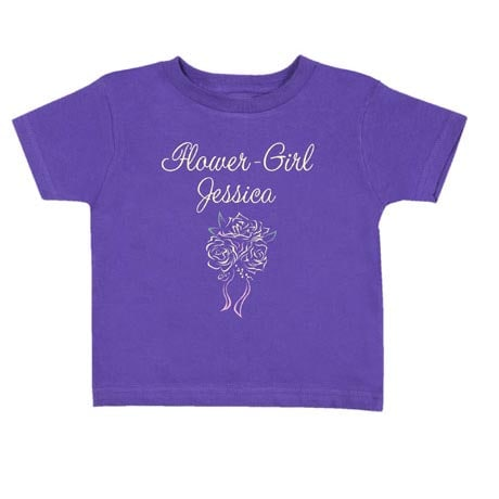 Personalized Flower Girl Toddler Shirt
