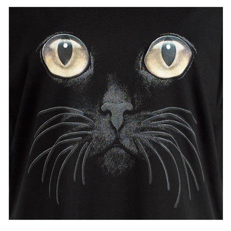 Cat Eyes Black Long Sleeve T Shirt