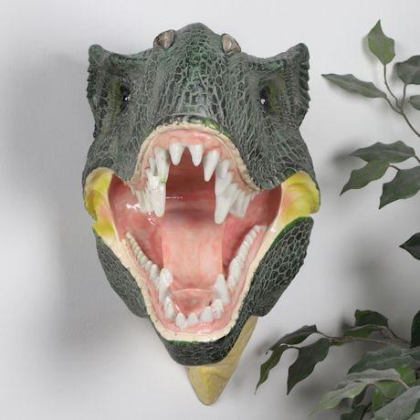 Tyrannosaurus Rex Dinosaur 3D Mounted Wall Sculpture