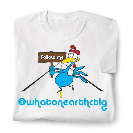 Personalized Follow Me @Twitter Name Shirt