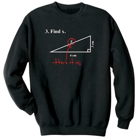 Find X Math Shirt