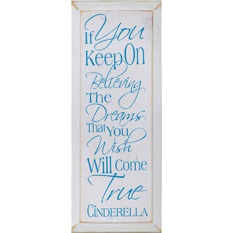 CINDERELLA - IF YOU KEEP ON BELIEVING PLAQUE