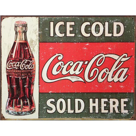 COCA-COLA METAL SIGN