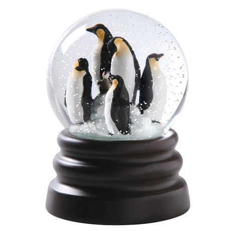 Penguin Musical Snow Globe