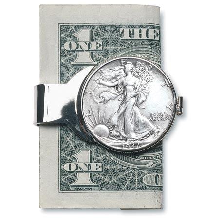 Silver Walking Liberty Half Dollar Money Clip