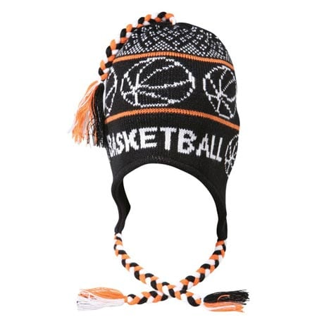 KNITTED SPORT HAT - BASKETBALL