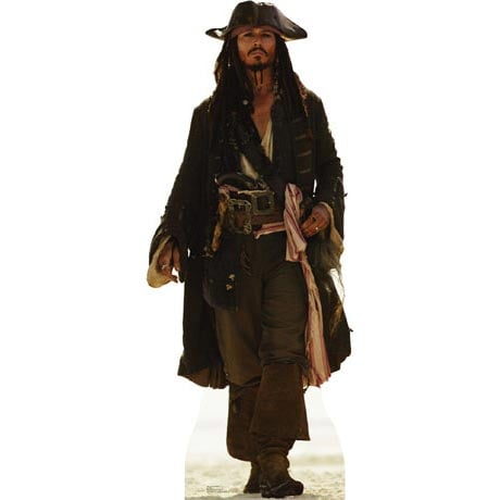 Life-Size Cardboard Movie Standup - Captain Jack Sparrow