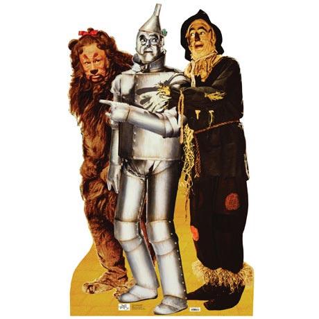 Life-Size Cardboard Movie Standup - Wiz Of Oz Lion Tinman Scarecrow Trio