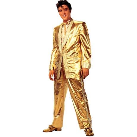 Life-Size Cardboard Movie Standup - Elvis Presley Gold Lame Suit