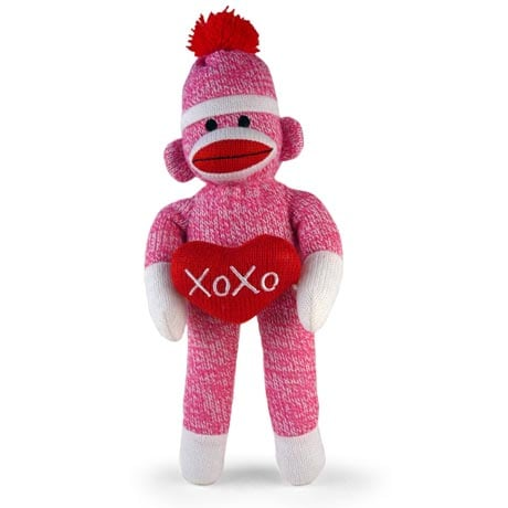 PINK XOXO SOCK MONKEY