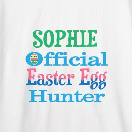 Personalized Easter Egg Hunter Shirt