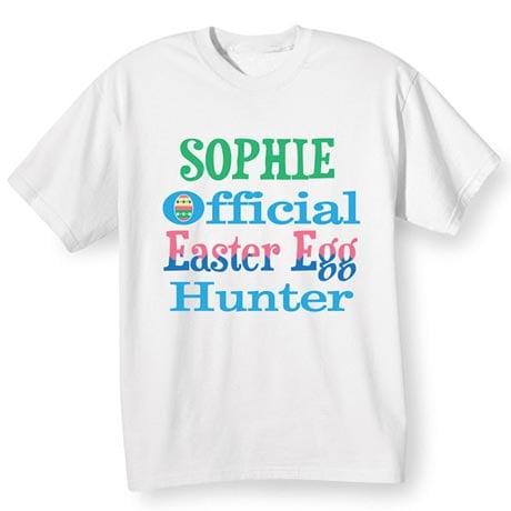 Personalized Easter Egg Hunter Shirt