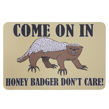 Honey Badger Don't Care Mat
