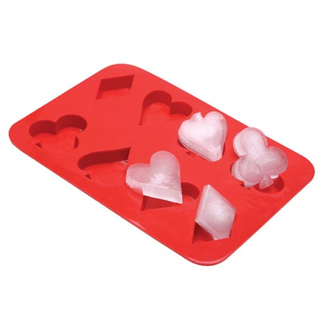 Playing Card Suits Ice Cube Tray