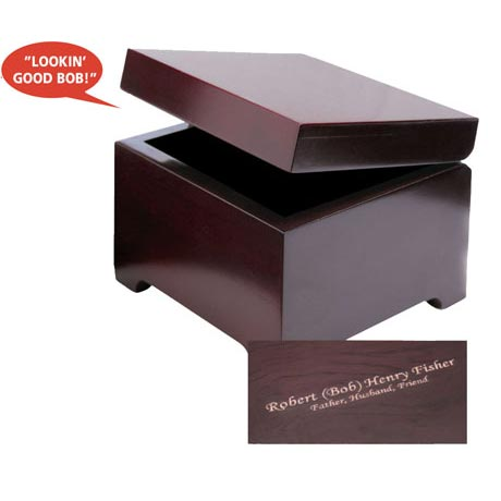 Engraved Bob's Affirmation Box - 2 Lines Of Personalized Message