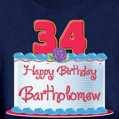 Personalized Happy Birthday Shirt