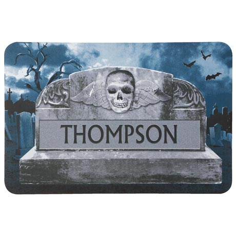 Personalized Tombstone Mat