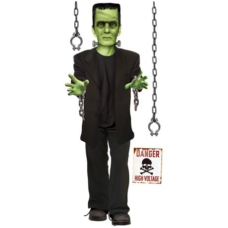 FRANKENSTEIN GLOW IN THE DARK WALL DECOR